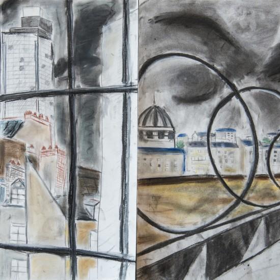 Desssin, fusain et pastel, 42x59,4