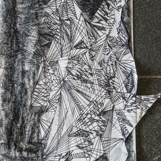 Dessin, collage et pastel, 42x59,4